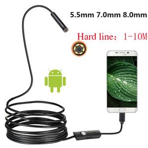 10PCS linea dura 5,5 millimetri 7 millimetri 8 millimetri Android Telefonia endoscopio industriale del tubo dentale Auto di riparazione USB Camera Repair Tool 1M 2M 3.5M 5M 10M