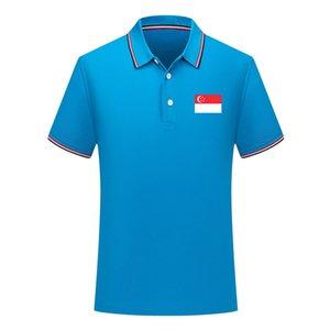 2020 Singapur-Nationalmannschaft der Männer Fußball-Polohemd Sport Polo Fußball Polos Sommer Fußball Short Sleeve Polo-T-Shirt Trikots Herren Polos