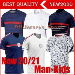 Men + kit 2020 France jersey Maillot de Foot francia enfant 2 stars GRIEZMANN MBAPPE POGBA franca football French Soccer Jerseys Boys