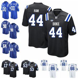 Duke Blue Devils Американский футбол Джерси Крис Katrenick Джерси Quentin Harris Бриттен Браун Деон Джексон Виктор Dimukeje Пользовательские прошитой