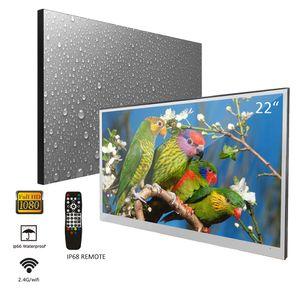 Soulaca 이십이인치 욕실 매직 미러 LED TV 안드로이드 7.1 IP66 방수 무선 임베디드 샤워 텔레비전 호텔