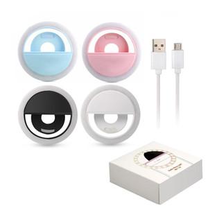 Универсальный светодиодный свет селфи свет Кольцо света лампы-вспышки селфи кольцо освещения камеры фотографии для Iphone Samsung с розничным пакетом
