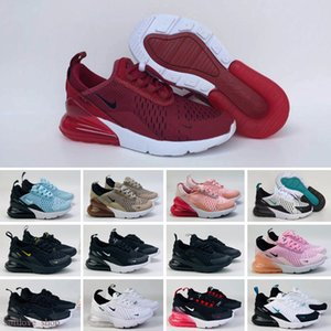 Hot Kids Baby Air Cushion Sneakers girls youth running shoes Bred Photo Blue triple white black Hot punch boys Max Sports trainers