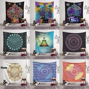 14 Styles Bohemian Mandala Tapestry Tapis de plage Chapitre Tapis de Yoga Tapis de Yoga Tapis de bain Polyester Décoration de la maison Pads d'extérieur CCA11526 30PCS
