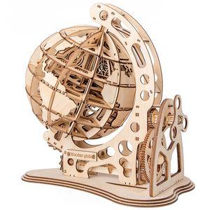 لغز الكرة الأرضية الخشبية 3D DIY Mechanical Drive Mechanical Drive