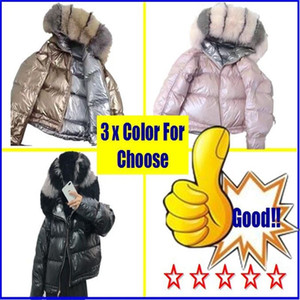 Down Parka 2019 New Brand Double Sided Down Long Jacket Winter Fur Collar White Duck Down Coat Padded Warm Parkas Snow