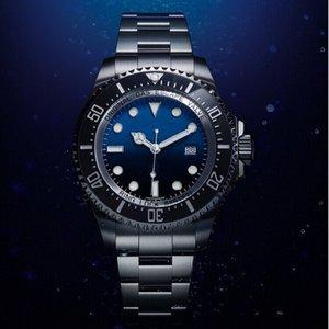 Série de conception de plongée en acier inoxydable de dessus en acier 116660 et de montre automatique Master Master Master Master Bleu Lumineux 44mm Lbclx