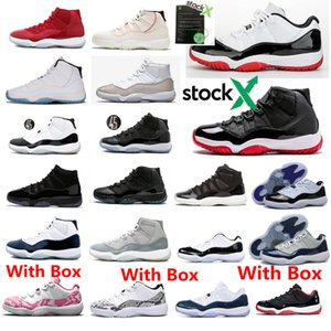 11 Low Weiß Bred Womens Basketball-Turnschuhe 11s Concord Space Jam Gym Red Legend Blau Günstige Schuhe Männer Größe mit Kasten Stock X