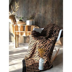 가을 겨울 따뜻하게 자동차 담요를위한 선물 패션 홈 담요 등 섬세한 F 편지 담요 127 * 152CM