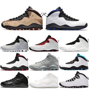 Nike Air Jordan Retro 10 10er Jahre Männer Basketball-Schuhe Desert Camo Orlando Cement Westbrook Ich bin zurück Cool Gray Trainer Athletic Designer Sports Sneaker Größe 8-13