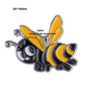 Güzel arı Yaka Pin Giysi Için XY0130 Için Sırt Çantası Pimleri