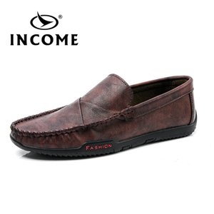 Income 2020 New Fashion Men Loafers Men Leather Casual Shoes High Quality Adult Moccasins Driving Shoes Male Footwear