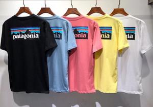 Nueva marca de Verano Patagonia diseñador de la camiseta de los hombres en moda mujer paisaje impresión de manga corta de algodón de alta calidad Casual tees de 7 colores M-2XL
