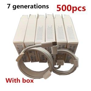 500pcs 7 generazioni di sincronizzazione di dati del caricatore cavo del telefono di qualità originale OEM 1m / 3ft USB con la nuova scatola di vendita al dettaglio