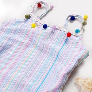 Peachtan Cute one piece swimsuit for children 2020 Strip swimwear for girls Colorful beachwear for children Summer bathing suit