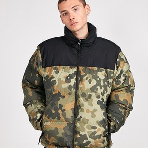 Chen Guanxi classic camouflage yellow green pink wine red coat down jacket black dark blue down jacket TN hidden hat coat Tide brand