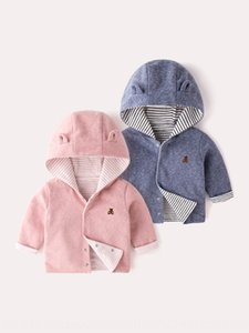 Baby female autumn 2019 boys double thin children infant foreign style coat coat baby