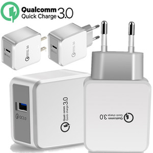 EU US QC 3.0 5V 2.4A 9V 1.8A 12V 1.5A Quick Charging Wall charger Power Adapter For iphone 7 8 x 10 samsung htc android phone pc mp3
