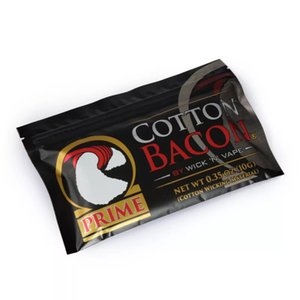 100% Organic Cotton the newest COTTON BACON 2.0 Prime Gold version For DIY RDA RBA Atomizers Heating Coil Wire E Cigarette Vaporizers
