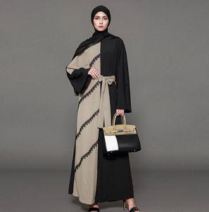 2019 ISHOWTIENDA Marca Verano musulmanes las mujeres ropa étnica Batas Abaya islámico Oriente Medio musulmán Maxi vestido del vendaje Kaftan S-4XL