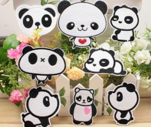 24pcs Una variedad de paño al por mayor de la panda, accesorios de vestir bordadas, parches de ropa, accesorios para niños
