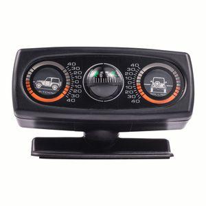 Nivel de guía de navegación para automóviles Decoración inclinómetro Compás Herramienta de inclinación de la onda Instrumento Accesorios Interior para AUTO Vehículos en barco