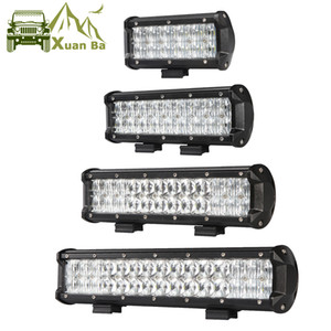 XuanBa 30W 60W 90W 120W 5D Lens Led Light Bar 12V 24V para Tractor Jeep 4x4 Off Road Motorcycle 4WD Truck SUV ATV spot Combo Feixe de trabalho Luzes