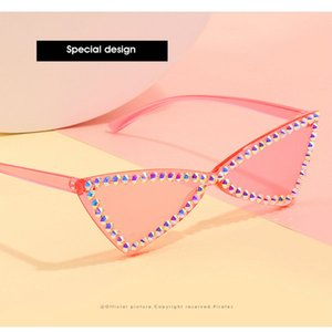Fashion Crystal Diamond Ne Street Shot Sunglass 2020 New Retro Sunglasses Fashion Street Shot Square Large Frame Men and Women Culos Gylka H