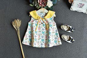 Baby Girl Sets Vêtements en coton imprimé 2Pcs Gilet sans manches Tops dentelle à volants Shorts 2020 New Kids fille Ensembles