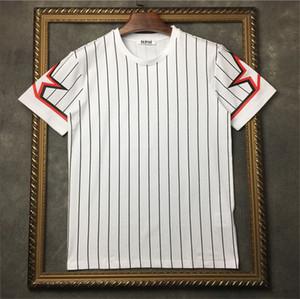 رجل المصمم T قميص الخماسي ستار مخطط الطباعة التي شيرت الرجال النساء المصمم T كم قصير القميص تيز الحجم S-XXL