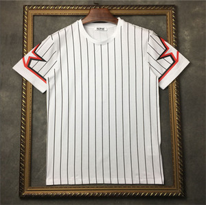 Herren-Stylist-T-Shirt Pentagramm Stern gestreifter Druck-T-Shirt Männer Frauen Stylist T Shirt Kurzarm-T-Shirts Größe S-XXL