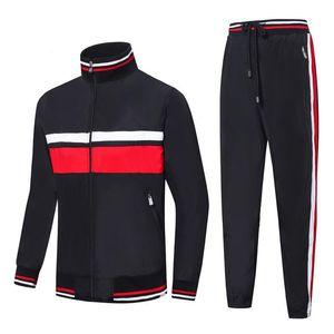 Fransa marka Tasarımcısı erkek Eşofman survetement homme dökün Sonbahar kış erkek spor ceket Fermuar hırka kazak erkek rahat ceket