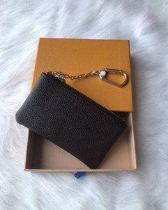 4 colori portachiavi in pelle Damier detiene buona qualità famoso designer classico donne portachiavi portamonete portamonete in pelle piccola scatola senza scatola