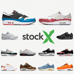 Nike air max 1 airmax 1s shoes Was die 1 Tartan Atmos Work Blue 1s Männer Frauen Laufschuhe 87er Jahre Trainer OG Jubiläum Parra Animal Pack Leopard Sports Sneakers 36-45