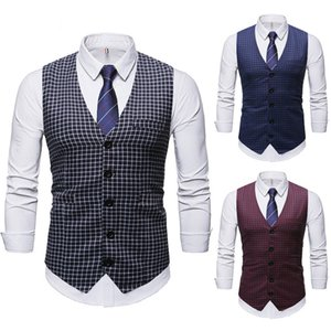 Fashion Explosion Models 2020 Fall Within The New Mens Designer Shirt Wedding Casual Vest New Winter Ride Vest Europe and America wholesale