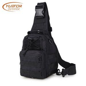 YUETOR OUTDOOR 600D Tactical Shoulder Bag Impermeable Solo Hombro Camping Viajes Senderismo Senderismo Mochila para hombres