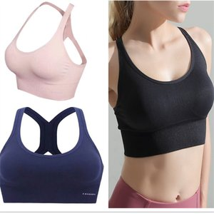 Fashion Women Sport Bras Vest Yoga Work Out Crop Tops Fitness Push Up Gym Comfortable Bras Run Seamless Elastic Wire Adjustable Bra 2020