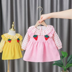Autumn Baby Girls Dress Clothes Infant Clothing Fashion Plaid Princess Dress for Baby Girls Long Sleeve Dresses 0-2y Vestidos
