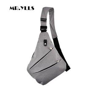 Mr. ylls Su Geçirmez Omuz Çantaları Erkekler Iş Tarzı Göğüs Çanta Erkek Naylon Messenger Çanta Adam Moda Crossbody Çanta Erkekler Bolsa 2019 Y19061301