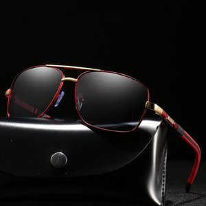 Metal Frame Rectangle lunettes de soleil polarisées Hommes / Femmes Anti-Débardage Conduite soleil en verre hommes Protection UV Lunettes / Lunettes / Shades