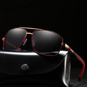 Retângulo Metal Frame óculos polarizados dos homens / mulheres Anti-derrapante Driving Sun Vidro Men Proteção UV Óculos / Eyewear / Shades