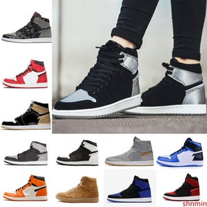 New 1 High OG Game Royal Banned Shadow Bred Toe Basketball Shoes Men 1s Shattered Backboard Silver Medal High Quality Mens Sneakers