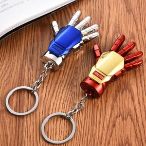 Çocuklar Hediyeler İçin Moda Metal Karikatür Anahtarlık Marvel Super Hero Iron Man El kolye Alaşım Anahtarlık Anahtarlık Araç Çanta Aksesuarları