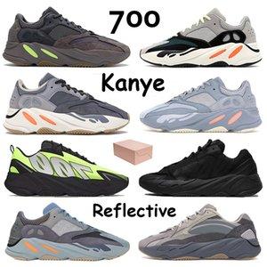 Dalga Runner 700 Kanye Mens Sneakers Üçlü Utility Siyah Kemik Vanta Atalet Tephra Geode Leylak ile Kutu Koşu Ayakkabıları