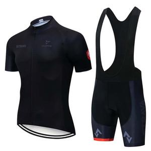 Mens Team Strava Strava Jerseys Pantaloncini Bib Tuta Quick Dry Ropa Ciclismo Bicycle Racing Abbigliamento traspirante MTB Bike Sportswear Y21040110