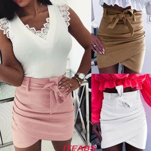 Женская мини-юбка Bodycon с высокой талией Skater Club Dress Повседневная короткая юбка для коктейля