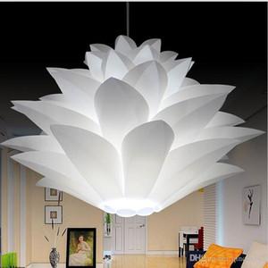 O mais baixo preço na venda DIY Modern pinecone Pingente de luz criativo lotus novela de lótus levou e27 35/45/55 cm iq puzzle lâmpada branco
