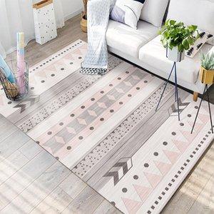RugCarpets cristallo Velvet geometrica Stile antiscivolo per casa soggiorno / camera / Cucina Mats rettangolo Carpet