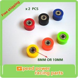 Guía de 8mm Chain 10mm Roller Polea tensora Rueda Para YZF RMZ KLX CRF 80 250 150 250 450 de la motocicleta de motocross Pit bici de la suciedad
