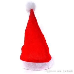 Preço de fábrica! Festa de Natal 1500pcs Red chapéu de Papai Noel Ultra Adultos pelúcia macia Natal Cosplay Chapéus Decoração de Natal Chapéus